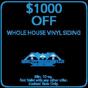 1000 off Whole House Vinyl Siding